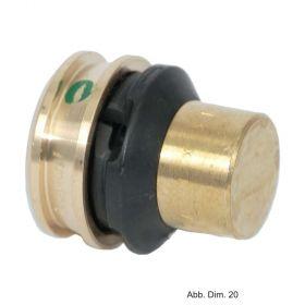 Viega Raxofix Verschlussstück mit SC-Contur aus Messing, 16 mm, Modell 5356