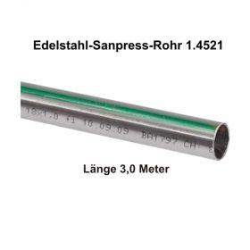 Viega Edelstahlrohr Sanpress nickelfrei 1.4521 in 3,0 m Stange, 15 x 1 mm