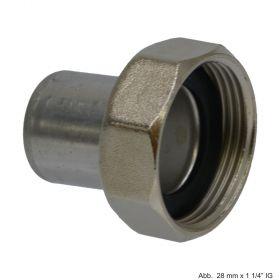"""Viega Sanpress Inox-Anschlussverschraubung, Modell 2364, flachdt., 15 mm x G 3/4"""""""