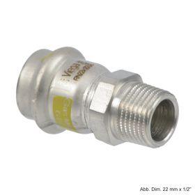 """Viega Sanpress Inox-G Übergangsstück mit AG, 15 mm x 1/2"""""""