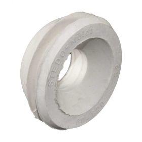 WC-Spülrohrverbinder Gummi weiß D=55mm für Rohr 28-32mm (Druckspüler) ohne Rosette